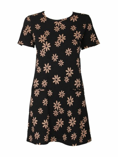 *NEW* EX DOROTHY PERKINS FLORAL THIN KNIT TUNIC / DRESS - SIZES 10 - 22 RRP £35