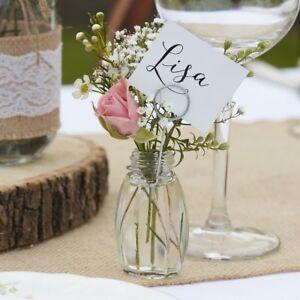 Mini Blumen Vasen Mit Tisch Karten Deko Glaser 8 Stuck Tisch