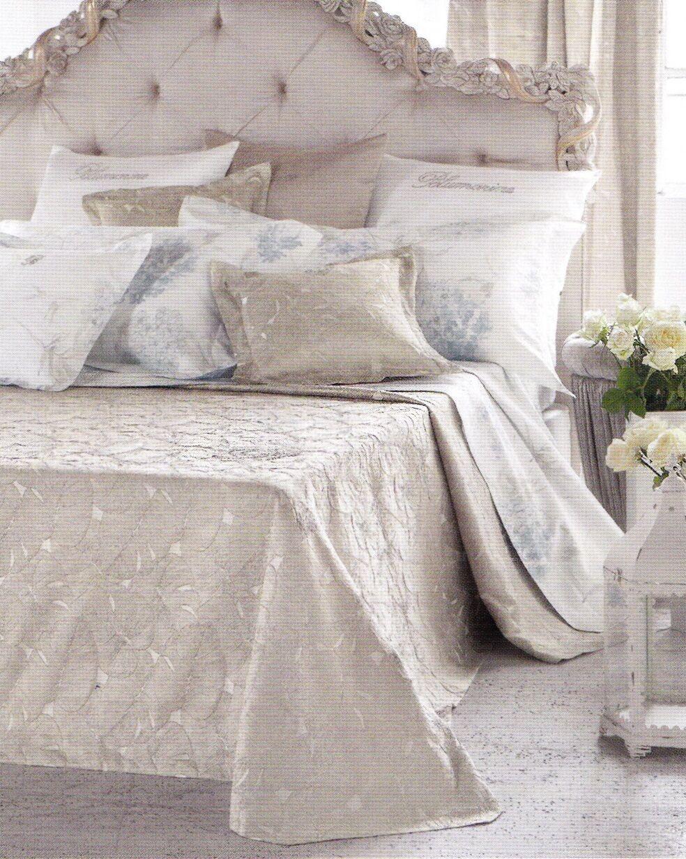 Copriletto liscio liscio liscio Jacquard con strass BlauMARINE, LAGO Blau Matrimoniale, 2 piazze 96d241