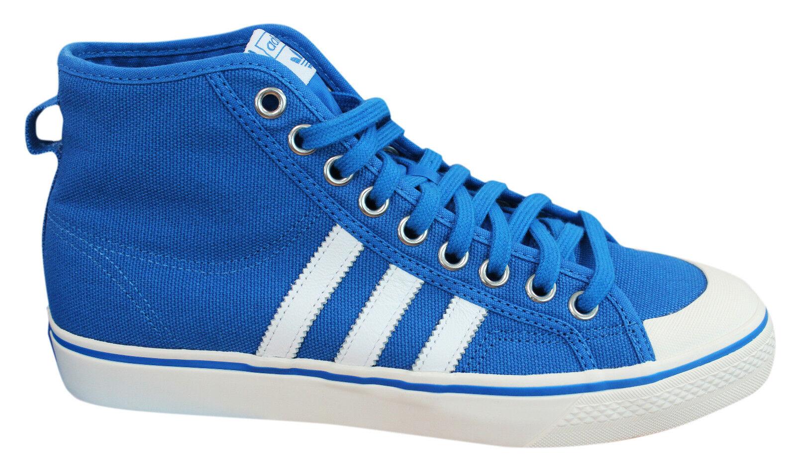 Adidas cordones Originals Nizza Hi Hombre Trainers zapatos con cordones Adidas azul blanco bz0548 M17 9919f5