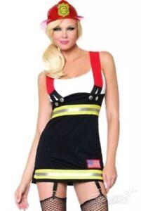 Sexy-FireFighter-Backdraft-Dress-Womens-Halloween-Costume-Leg-Avenue-Size-M