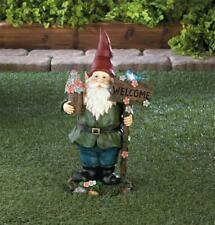 CUTE FAIRY GARDEN MINIATURE Gardening Gnome Figurine NEW #D161512