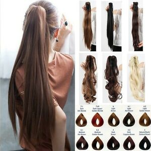 One piece clip on ponytail clip in hair extensions pony tail image is loading one piece clip on ponytail clip in hair pmusecretfo Images