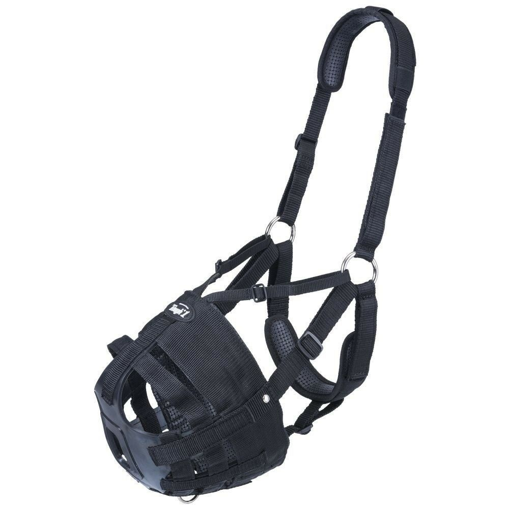 Tough-1 Deluxe Easy Breathe Poly Nylon Grazing Muzzle with V Strap