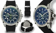 NEW Ulysse Girard 14079 Men Chronograph Levesque Series Green/Blue IP Watch