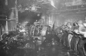 WW2-Picture-Photo-1944-USS-Intrepid-CV-11-crewmembers-after-hit-by-Kamikaze-2954