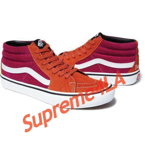 Supreme 18S/S Vans Crocodile Corduroy Sk8 Mid Rust Size 9.5 1000% Authentic