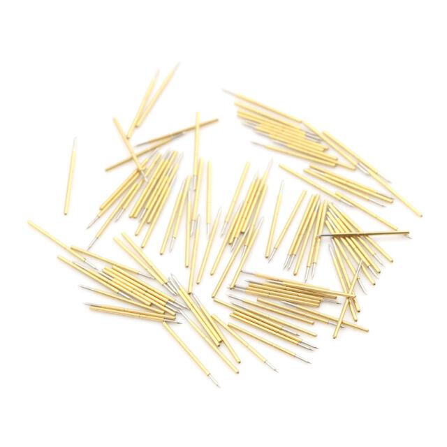 Fine 100x P50-B1 Dia 0.68mm Length 16mm 75g Spring Pressure Test Probe Pogo Pin/'
