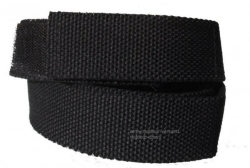 Koppel Gürtel Klettverschluss schwarz 90-140 cm Länge Klettgürtel Hosengürtel
