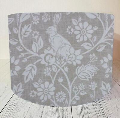 Fabric Lampshade Handmade Stone Linen Rabbit Woodland Lamp Shade