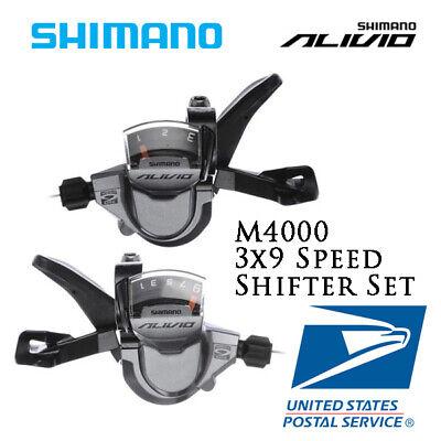 SHIMANO Alivio MTB Bike SL-M4000 Rapid Fire Plus 3x9Speed Shifter Set W//Cable