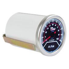 2Inch 52mm 0-10000RPM Car Vehicle White LED Tachometer Tacho Gauge Meter RPM