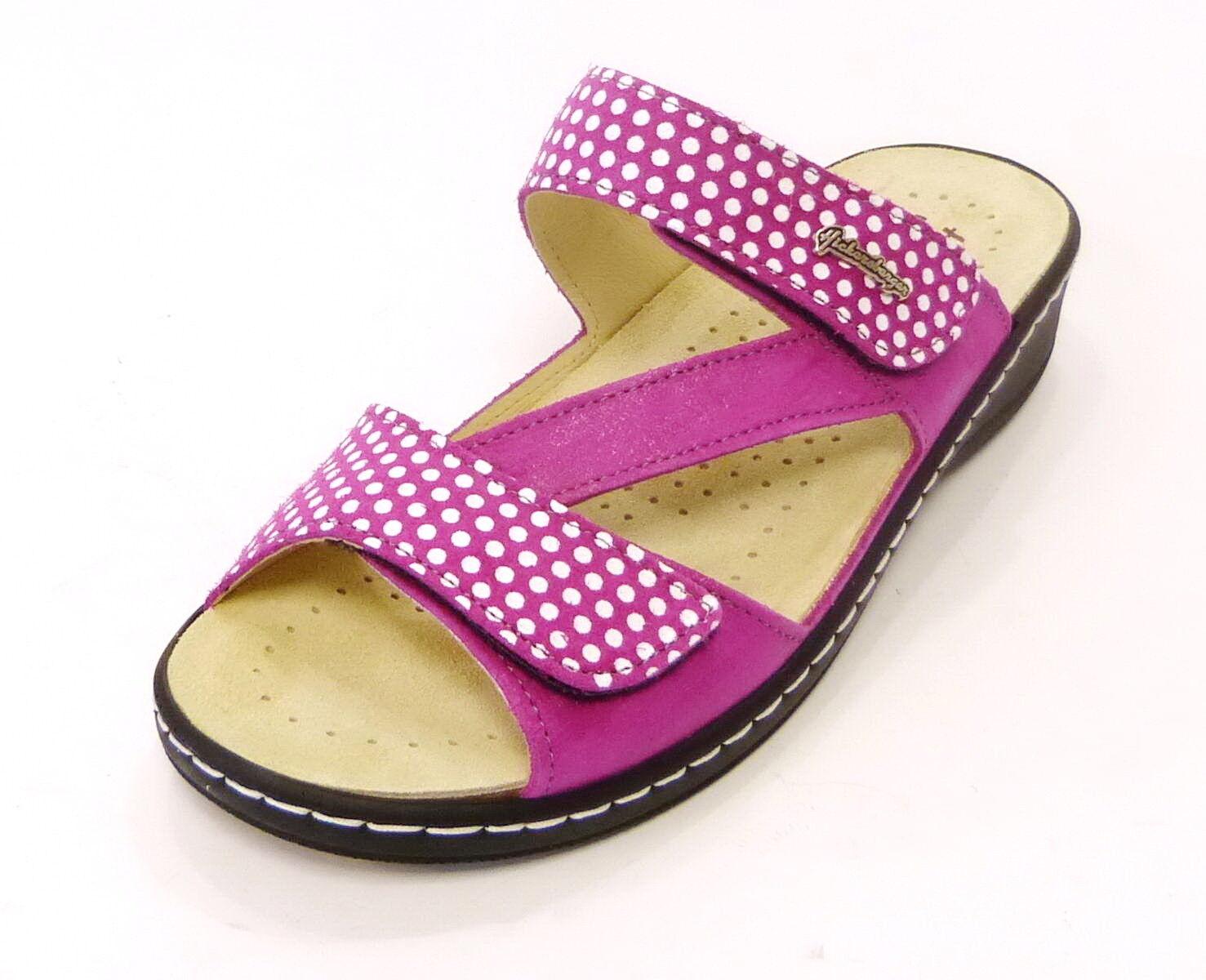 Hickersberger sandalia es 2846 4032 rosa hierbas plantilla punto punktino cuero