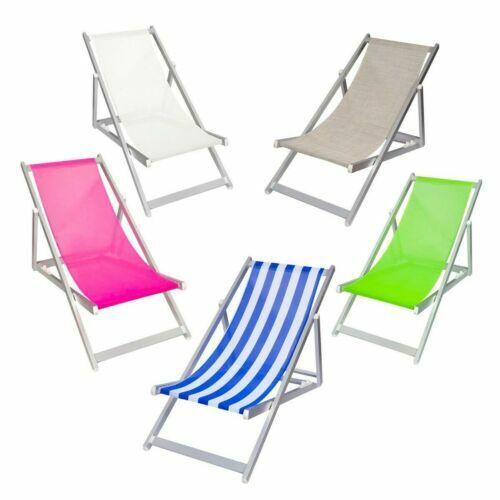 Piscina e Giardino Bianco Lettino Mare Stabilimento Pieghevole Professionale in Alluminio Perfetto per Spiaggia TEMPO STYLE L-Mediterraneo con Tetto Parasole e Rivestimento in Textilene