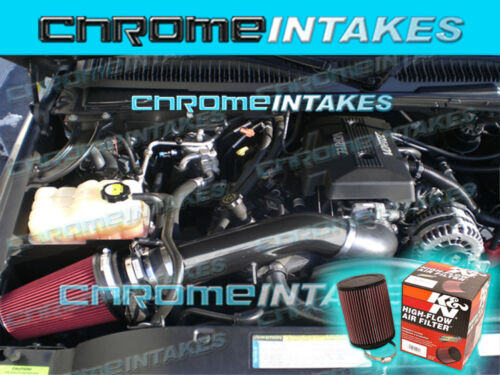 NEW 99-06 CHEVY TAHOE//SILVERADO V8 COLD AIR INTAKE KIT BLK+K/&N