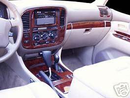 Wood Grain Burlwood Dark Rdash Dash Kit Decal Trim for Toyota Land Cruiser 1998-2002