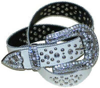 224, 1.5 White Rhinestone Decorated Belt For Women On Special Sale