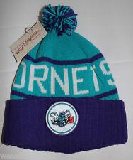 Mitchell & Ness Charlotte Hornets NBA Purple White Turquiose Beanie Cap Hat New