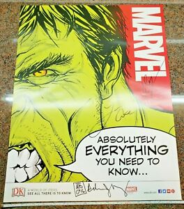 Marvel-Absolutely-Everything-You-Need-to-Know-Incredible-Hulk-Poster-SIGNED-by-3