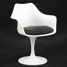 Mini Tulip Armchair Chair Furniture Dolls Blythe Dollhouse Miniature 1:6 White