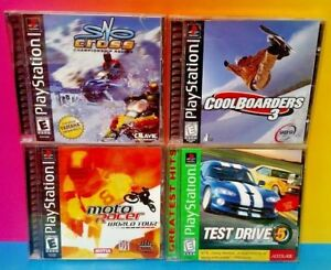 Cool-Boarders-3-Teste-Drive-5-Moto-Racer-Sno-Cross-Playstation-1-2-PS1-PS2-Games