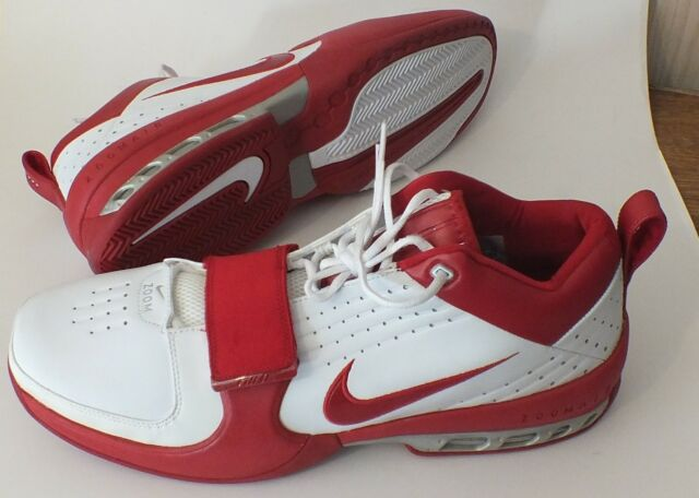 Nike Air Zoom Drive TB Red White Size 18 (309184 161) with Velcro Straps VintNew