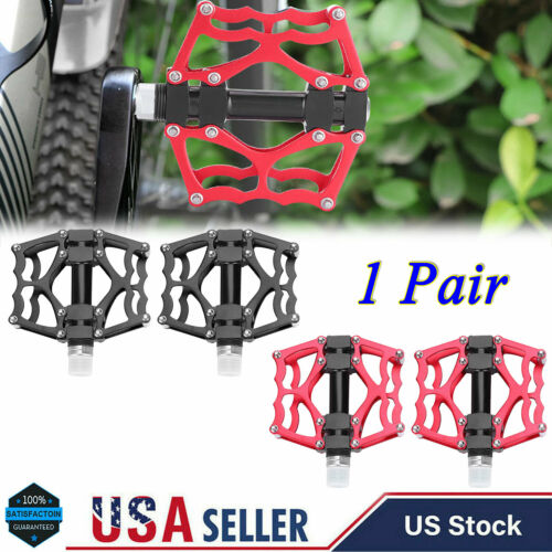 1 Pair Aluminium Alloy Bike Pedals Mountain Bike Road Bicycle Lightweight Pedals