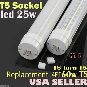 t5 led tube light 4ft 25w t8 shell t5 size g5 5 sockel replace fluorescent 60w ebay. Black Bedroom Furniture Sets. Home Design Ideas