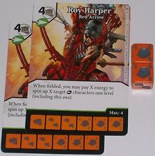 2 x ROY HARPER: RED ARROW 72 Green Arrow and The Flash Dice Masters