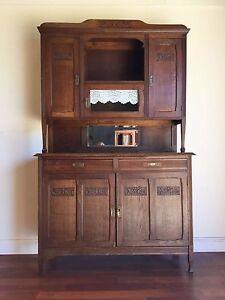 Antique-French-Art-Deco-Oak-Dresser-Buffet-Sideboard-Carved-ok142