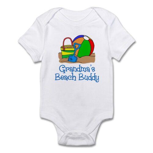 872583679 CafePress Grandmas Beach Buddy Body Suit Baby Bodysuit