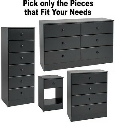 Black Bedroom Furniture Dressers Nightstands Chest Dresser Drawer Sets 4 6  7 NEW | eBay