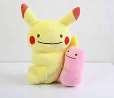 "Pokemon Pikachu Ditto Plush Doll Figure Stuffed Animal Toy 12"" Collectible Gift"