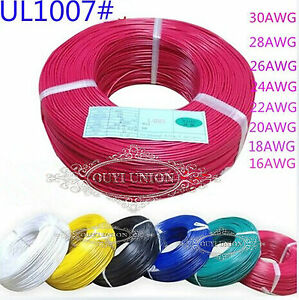 Equipment Wire Stranded Copper Cores Muti 18AWG~ 28AWG Cable DIY Electrical Wire