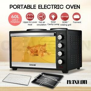 60l Portable Electric Convection Benchtop Oven Toaster