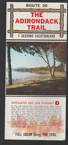 Route 30 The Adirondack Trail 4 Seasons Vacationland New York Brochure 1970s