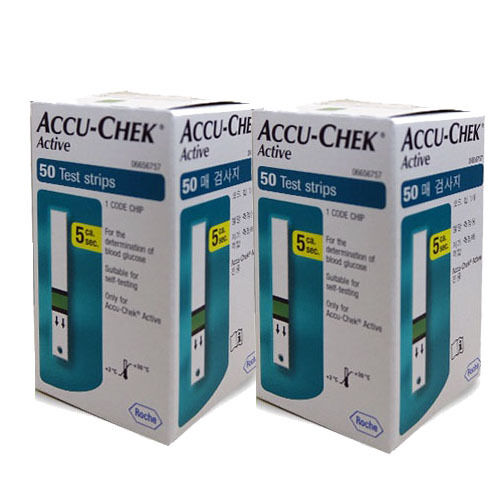 ACCU CHEK Active 100 Test Strips (100Sheets) Tracking number, Expiration:07/2016