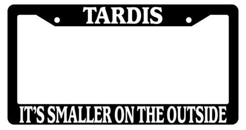 Black License Frame Tardis It/'s Smaller On The Outside