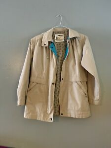 London Fog Womens Petite Small Jacket Trench Coat W Hood Preowned Ebay