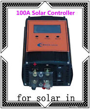 "2400W 100AMP Smart Solar Controller,DC12V DC24V,3.5""LCD,For 18V-54V Solar Panel"