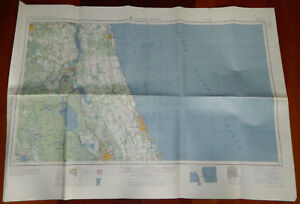 image is loading vintage nautical land map daytona beach 1958 us