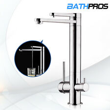 Dual Function Handle Pure Water Spout Kitchen Sink Faucet Swivel Tap Brass Mixer