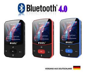 MP3 Player Bluetooth 16 GB,Clip,Sport Player,FM Radio,100 St Wiedergabe,RUI