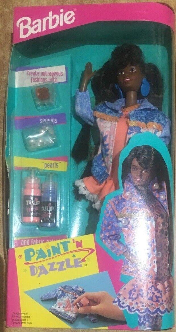 Barbie Mattel Mattel Mattel Paint'N Dazzle schwarz Vintage 93' RARE 6d6272