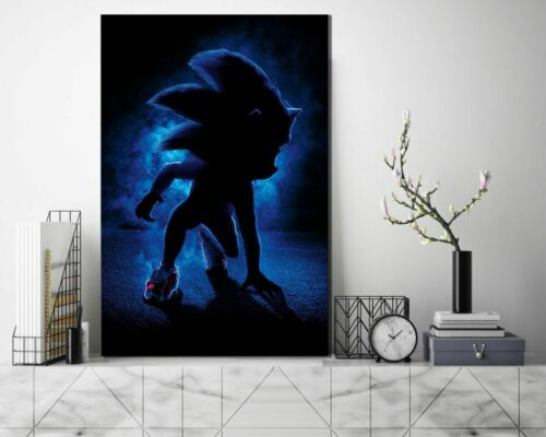 Sonic The Hedgehog Poster Gaming Room Wall Decor Print PC Game Art No Framed