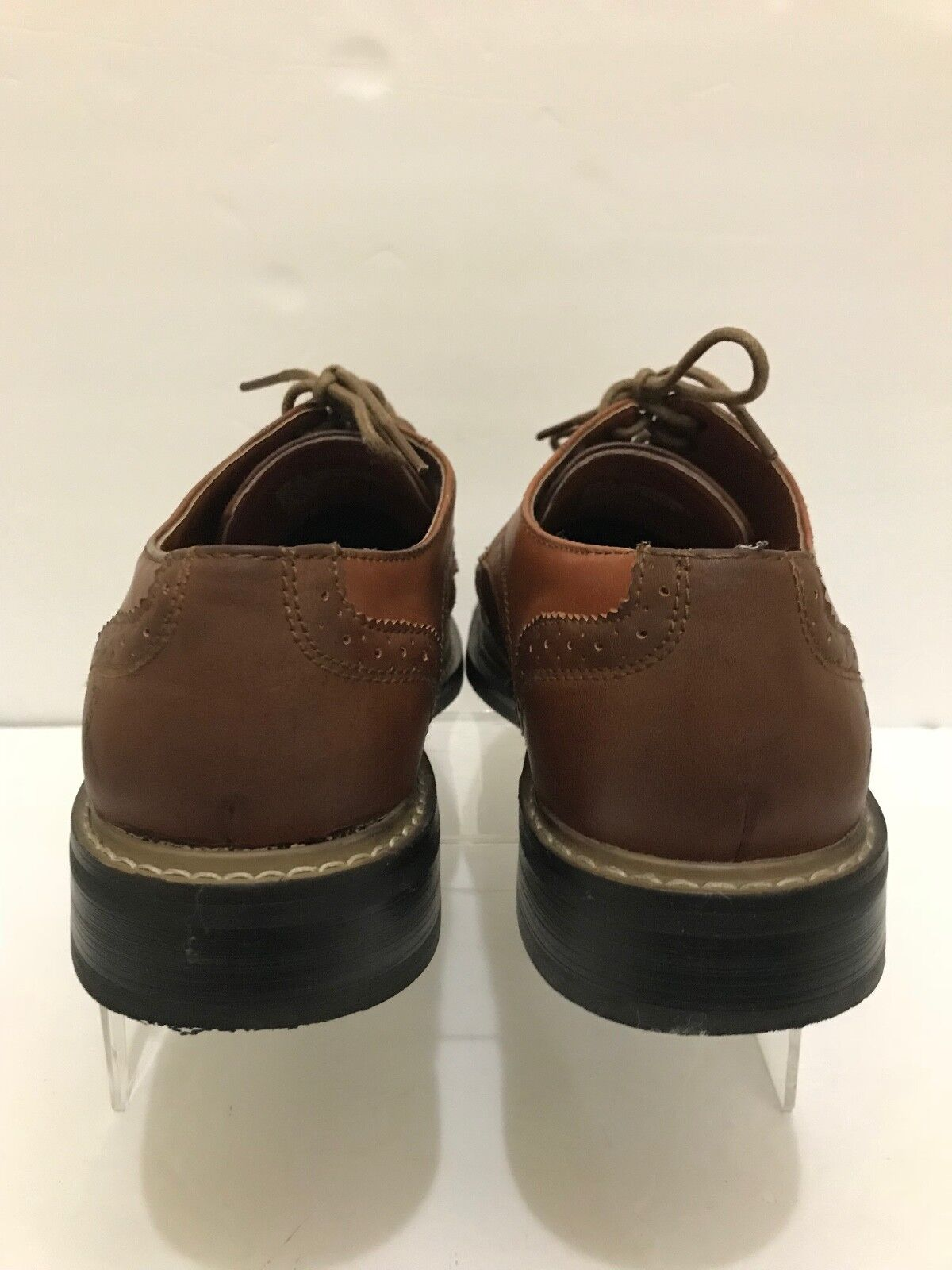PENGUIN MUNSINGWEAR WELTON WELTON WELTON   LEATHER LACE UP LONG WINGTIP OXFORD schuhe SZ 8 M 7acc0f