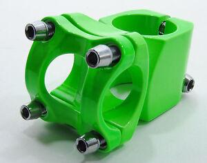 PROMAX-Mountain-Bike-Stem-40mm-Fluorescent-Neon-Green-25-4mm