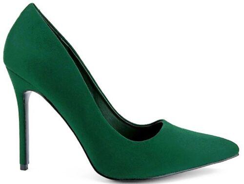 Kali-01 Women Pointed Pointy Toe Stiletto High Heel Slip On Suede Pumps