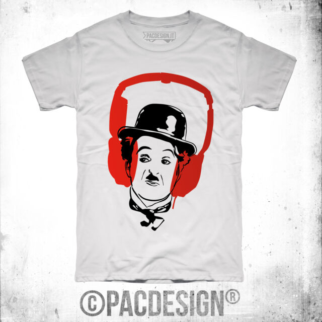 T-SHIRT UOMO DJ HOUSE PARTY VINILE OLD SCHOOL CHAPLIN WHY SO VINTAGE DK0111A