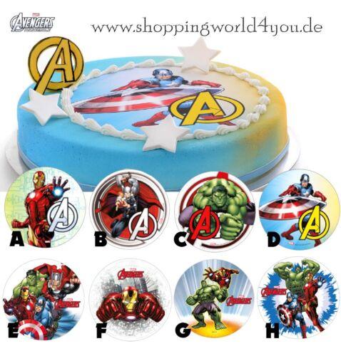 Zaubere Kuchen für Helden The Avengers Waffelaufleger 8 Motive zur Auswahl